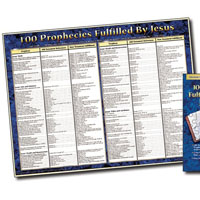Chart: 100 Prophecies Fulfilled by Jesus (Laminated)