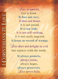 Chart: 1 Corinthians 13: Love (Laminated)
