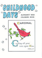 Childhood Days Alphabet Bird Coloring Books (Aunt Mabel)