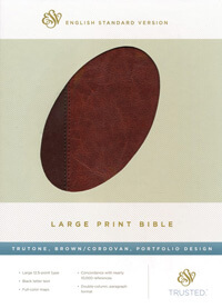 ESV Large Print Bible Brown/Cordovan