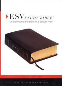 ESV Study Bible Black Bonded Leather