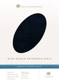ESV Wide Margin Reference Bible Black