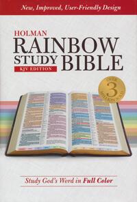 KJV Holman Rainbow Study Bible HC