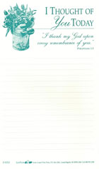 Lily Pads: I Thought Of You Today (Lined Memo Pad)