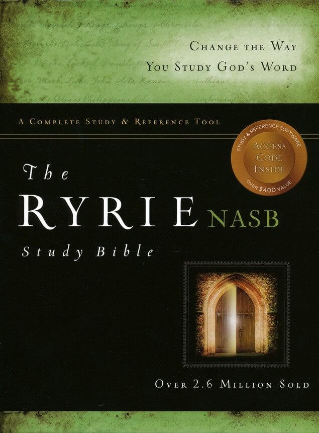 NASB Ryrie Study Bible & CD-ROM