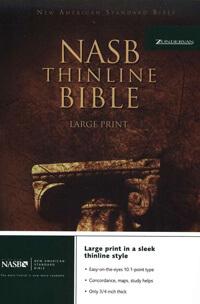 NASB Thinline Large Print Bible HC