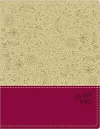 NIV, Beautiful Word Bible, Imitation Leather, Tan/Pink