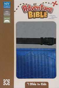 NIV Adventure Bible (revised) clip closure Gray/Blue