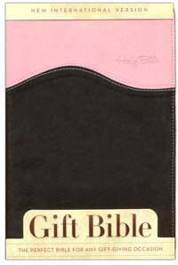 NIV Gift Bible Duo Tone Pink/Chocolate