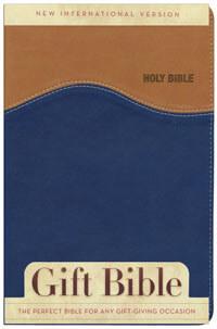 NIV Gift Bible Duotone Tan/Blue