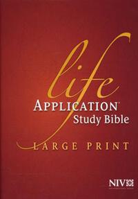 NIV Life Application Study Bible Large Print HC
