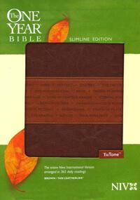 NIV One Year Bible Brown/Tan Imitation Leather