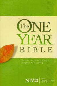 NIV One Year Bible Paperback