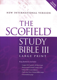NIV Scofield Study Bible III Large Print INDEXED