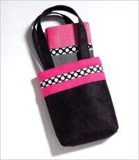 NIV Trimline Bible-In-A-Bag Black/Pink