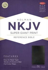 NKJV Super Giant Print Reference Bible INDEXED