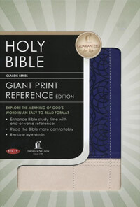 NKJV Giant Print Reference INDEXED*
