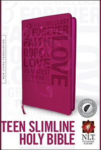 NLT Slimline Teen Bible (1 Corinthians) INDEXED
