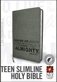 NLT Slimline Teen Bible (Psalm 91) INDEXED