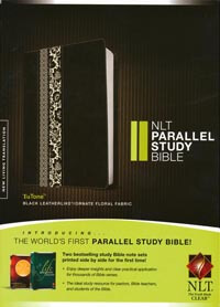 NLT Parallel Study Bible Black tutone INDEXED