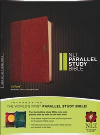 NLT Parallel Study Bible Brown/Tan INDEXED