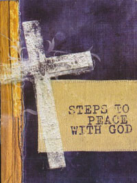 Tract: Steps To Peace With God (cross) NKJV  pkg 25