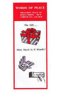 Tract: WOP Gift...How Much Is It Worth? (100 pkg)