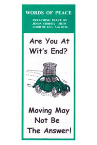 Tract: WOP Are You at Wits End? (100 pkg)