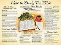 Chart: How to Study the Bible (Laminated)