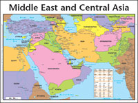 Chart: Middle East & Central Asia (Laminated)