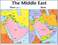 Chart: Middle East: Then and Now (Laminated)