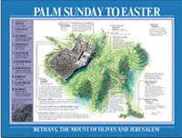Chart: Palm Sunday to Easter Map