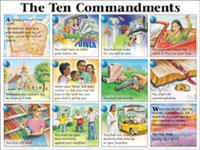 Chart: Ten Commandments NIV, The (Laminated)