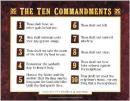 Chart: Ten Commandments KJV, The