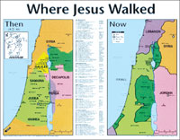 Chart: Where Jesus Walked (Laminated)