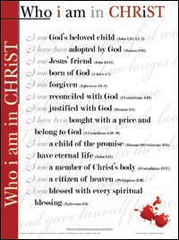 Chart: Who I Am In Christ (Laminated)
