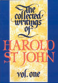 Collected Writings of Harold St John Vol 1