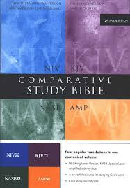 NIV KJV NASB AMP Comparative Study Parallel Bible