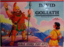 David and Goliath Bible Story Pop Up Bk