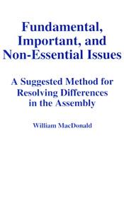 Fundamental Important and Non-Essential Issues (bklt) ECS