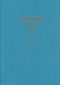 Miscellaneous Writings of J. N. Darby Vol 5 (HC)
