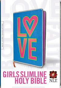 NLT Slimline Girls Bible  HC