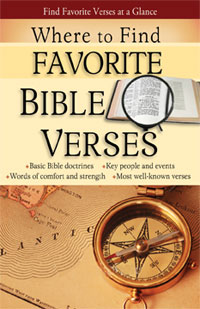 Pamphlet: Where to Find Favorite Bible Verses pamphlet