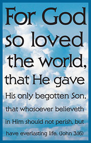 Tract: For God So Loved The World  KJV (John 3:16)