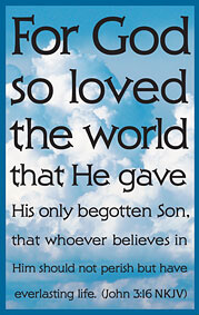 Tract: For God So Loved The World (NKJV) (John 3:16)